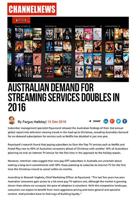 Platform Communications Case Study - Paywizard OTT Campaign - Streaming